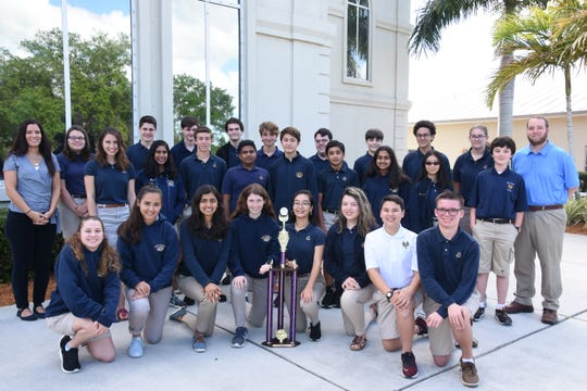 A team from Holy Trinity Episcopal Academy took first place at a recent Latin competition.