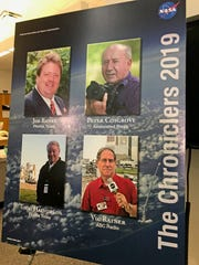 "Former FLORIDA TODAY space reporters Jim Banke and Todd Halvorson had their names added to NASA's ""Chroniclers,"" a list of retired journalists, broadcasters, authors and public relations representatives who have excelled at telling the story of America's evolving space program."