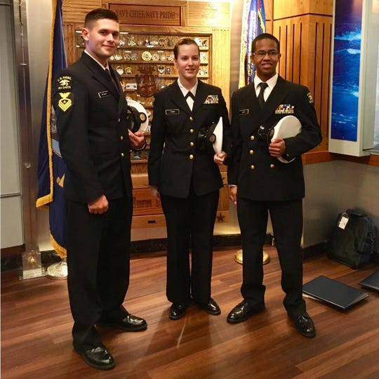 Student cadets chosen for an elite leadership academy.