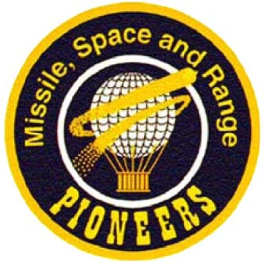 The Missile, Space and Range Pioneers logo.