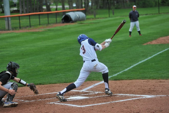 Galion's Troy Manring swings at a pitch.