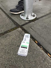 An empty Juul pack sits on Cherry Street by the bus station in Burlington, Vermont. Juul is an electronic cigarette company that gained popularity in recent years, especially with younger age groups. May 2, 2019.