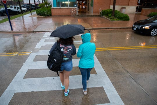 Weather officials are forecasting thunderstorms and high-speed winds for Thursday and Friday, as a cold front pushes into the Coastal Bend.