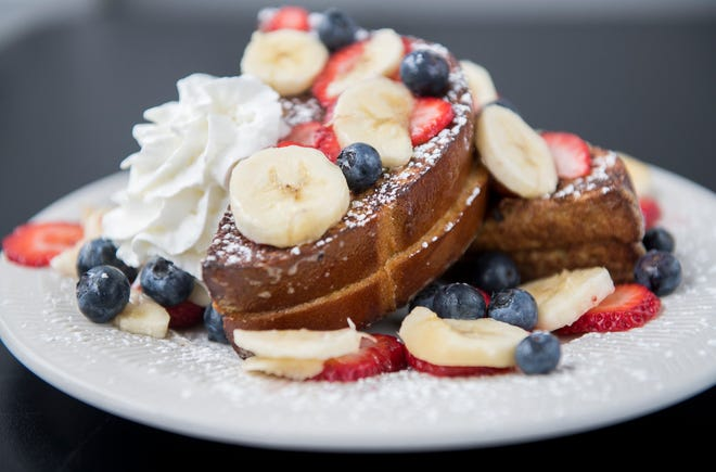 Stuffed French toast at Kitchen87 in Mount Holly.