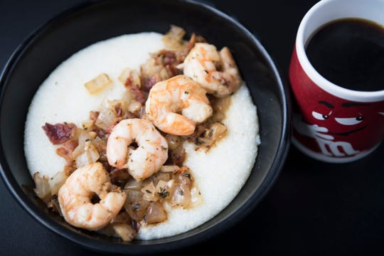 Shrimp and grits at Kitchen87 in Mount Holly.