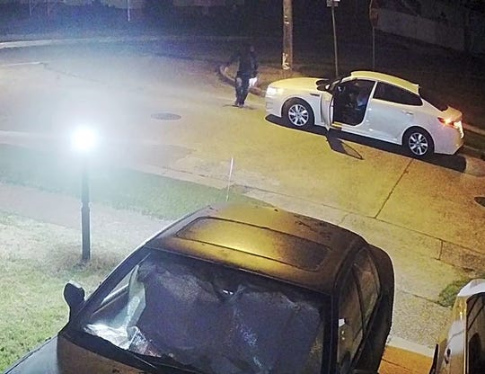 Pennsauken police seeking identify of man and white Kia at corner of Pleasant Avenue and 49th Street, where a shooting occurred early Friday.