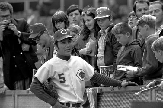 Reds catcher Johnny Bench looks dapper before the start of the World Series in 1970. The Reds were scrappier against the Baltimore Orioles than the box score suggests.