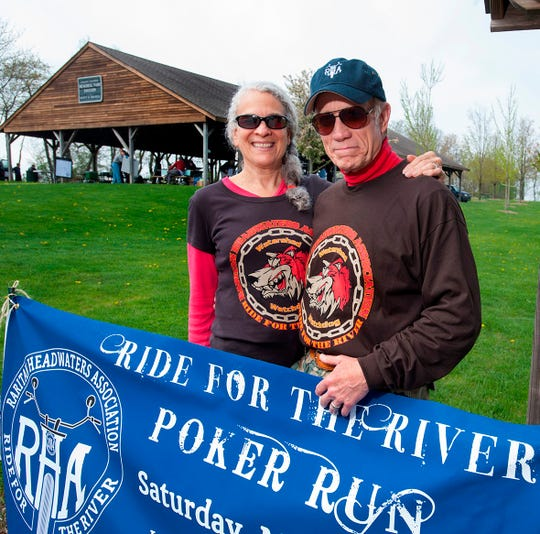 Amy Greene and John Belle, organizers of the Raritan Headwaters Association annual Ride for the River motorcycle rally.