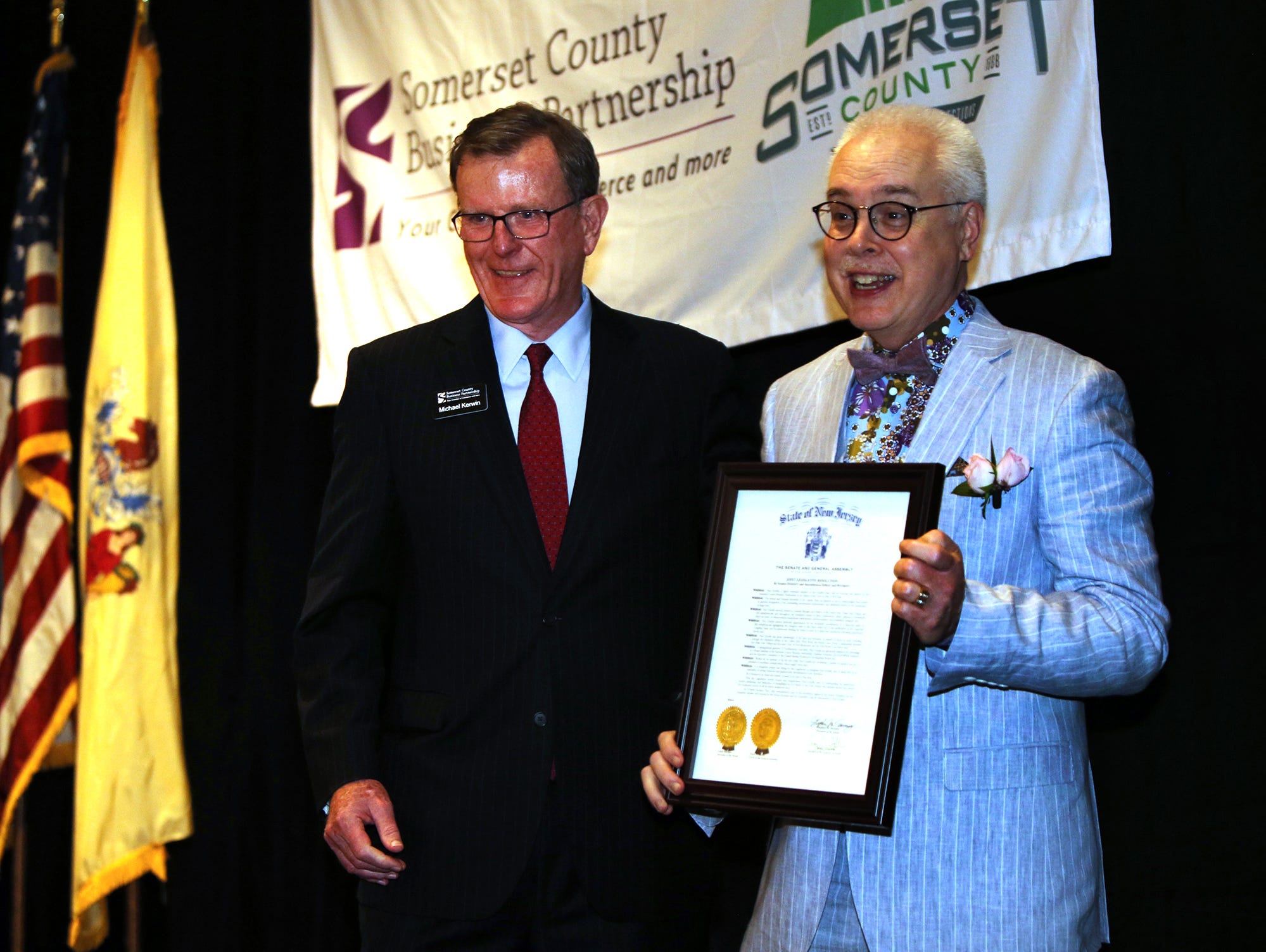 Paul Grzella Citizen of the Year, right, and Michael Kerwin at the 69th Annual Citizen of the Year Dinner Thursday May 2, 2019.