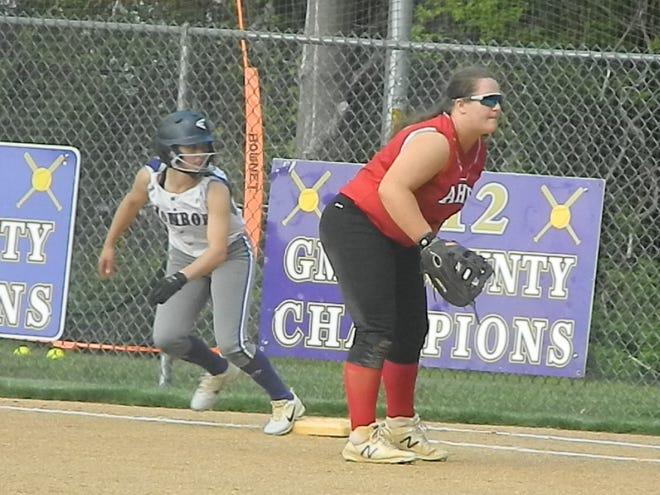 Bishop Ahr softball at Monroe on Thursday, May 2, 2019.
