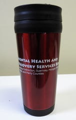 A tumbler recently given out to members of the Coshocton County Sheriff's Office, Coshocton Fire Department, Coshocton County Emergency Medical Services and Coshocton County Children Services.