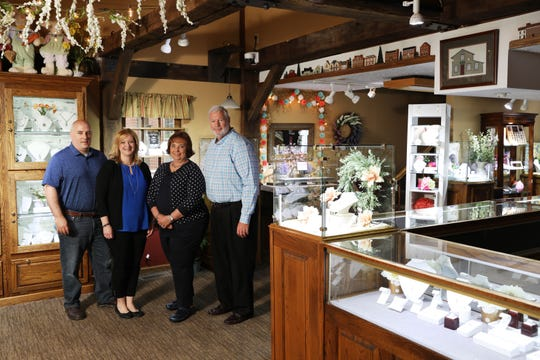 Greg and Kathy Fisher and their daughter Alison Flinner and son-in-law Jeff operate House of G.A. Fisher Jewelers in Roscoe Village. Alison represents the third generation of jewelers in the Fisher family.