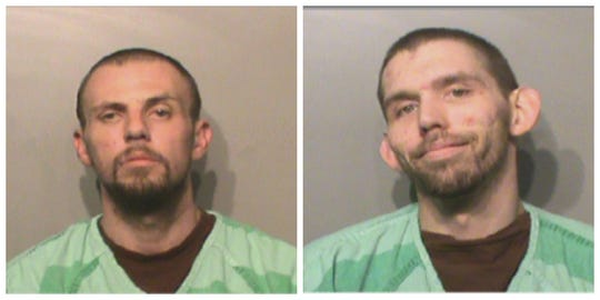 Rodney Clint Moore, left, escaped from Polk County Jail early Friday, May 3, 2019 using Zakary Arthur Titus' ID bracelet, authorities say. Titus has been charged for helping Moore escape.