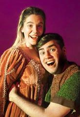 "Katy MacCutcheon and Matt Wallace in the Ringwald's production of ""Head Over Heels."""