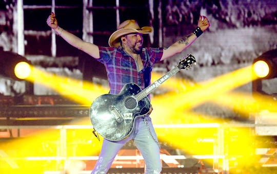 Jason Aldean, pictured at California's Stagecoach Festival on April 28, will play DTE Energy Music Theatre Sept. 28-29.