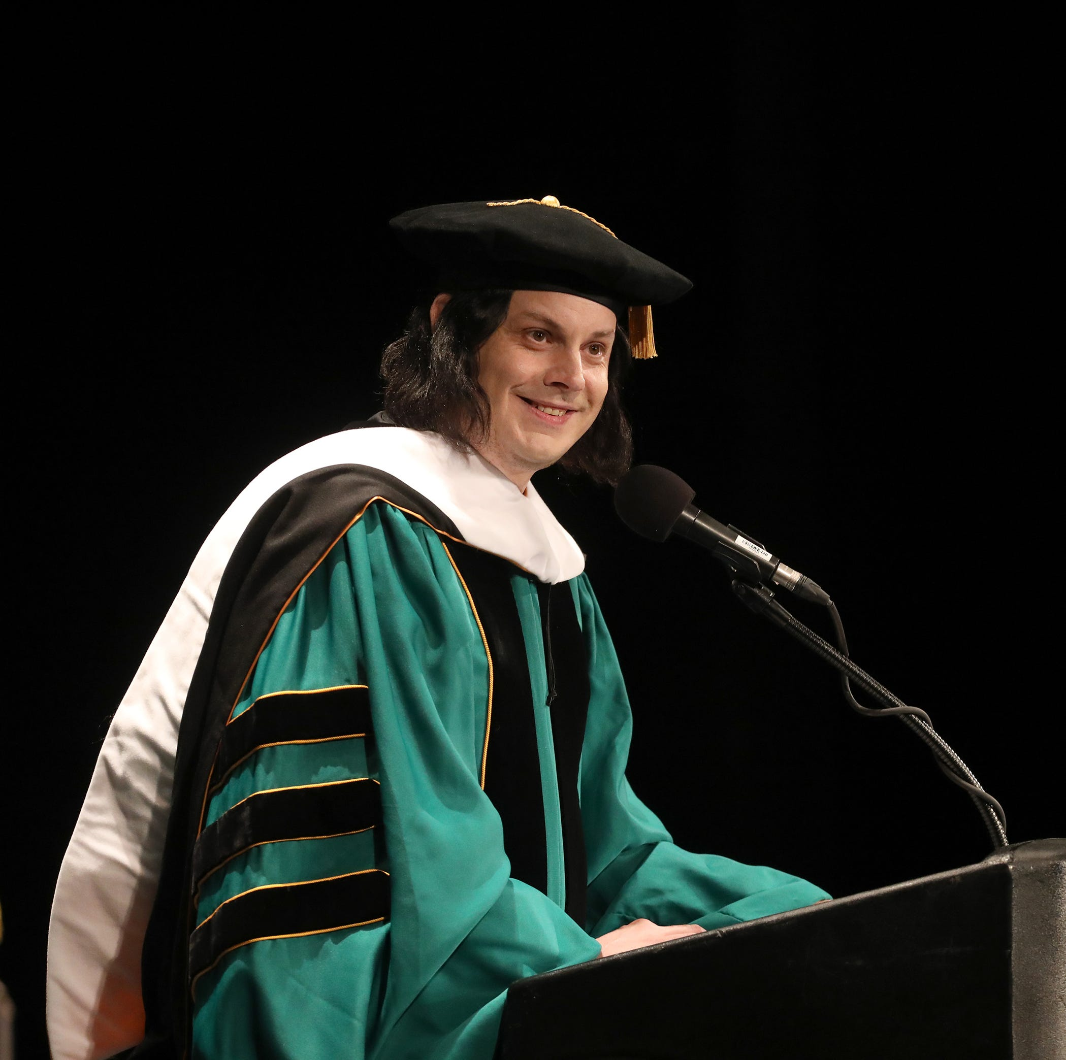 Jack White receives his honorary doctorate from Wayne State: 'absolutely incredible'