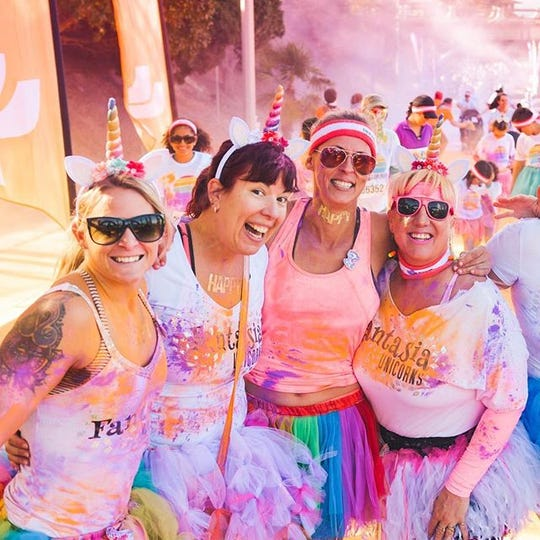 The Color Run, which visits cities across the U.S. leaves participants looking tie-dyed and ready to party.