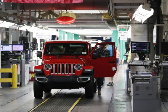A 2019 Jeep Wrangler iat the Toledo North Assembly Plant.