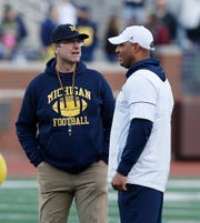 Jim Harbaugh and Josh Gattis