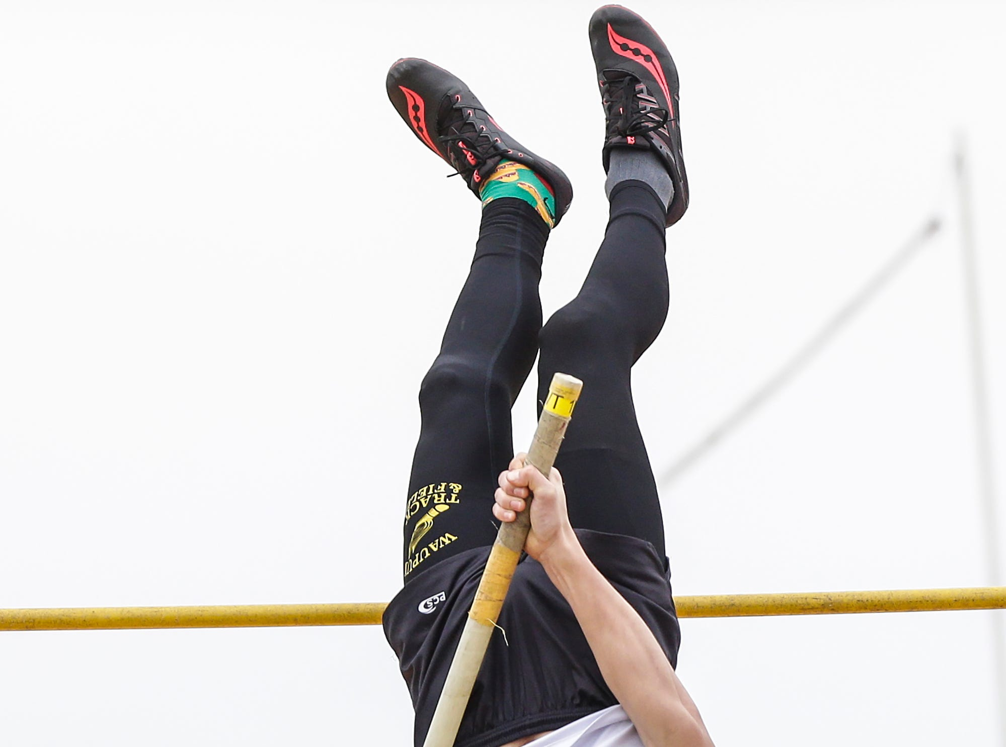 Jarrod Vis of Waupun High School competes in the pole vault Friday, May 3, 2019 at the Waupun High School Invitational track and field meet. Doug Raflik/USA TODAY NETWORK-Wisconsin