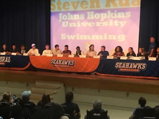 Cape Coral High held a signing ceremony for 15 athletes on Thursday.