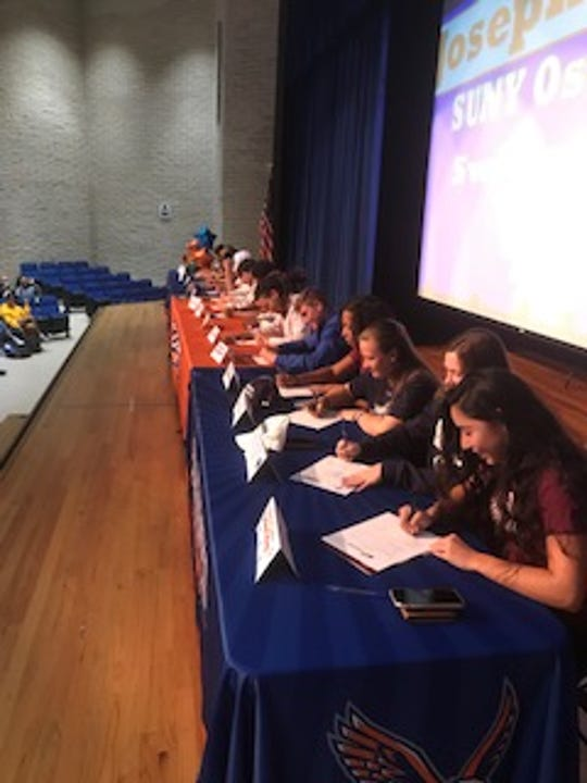 Cape Coral High held a signing ceremony for 15 student-athletes on Thursday.