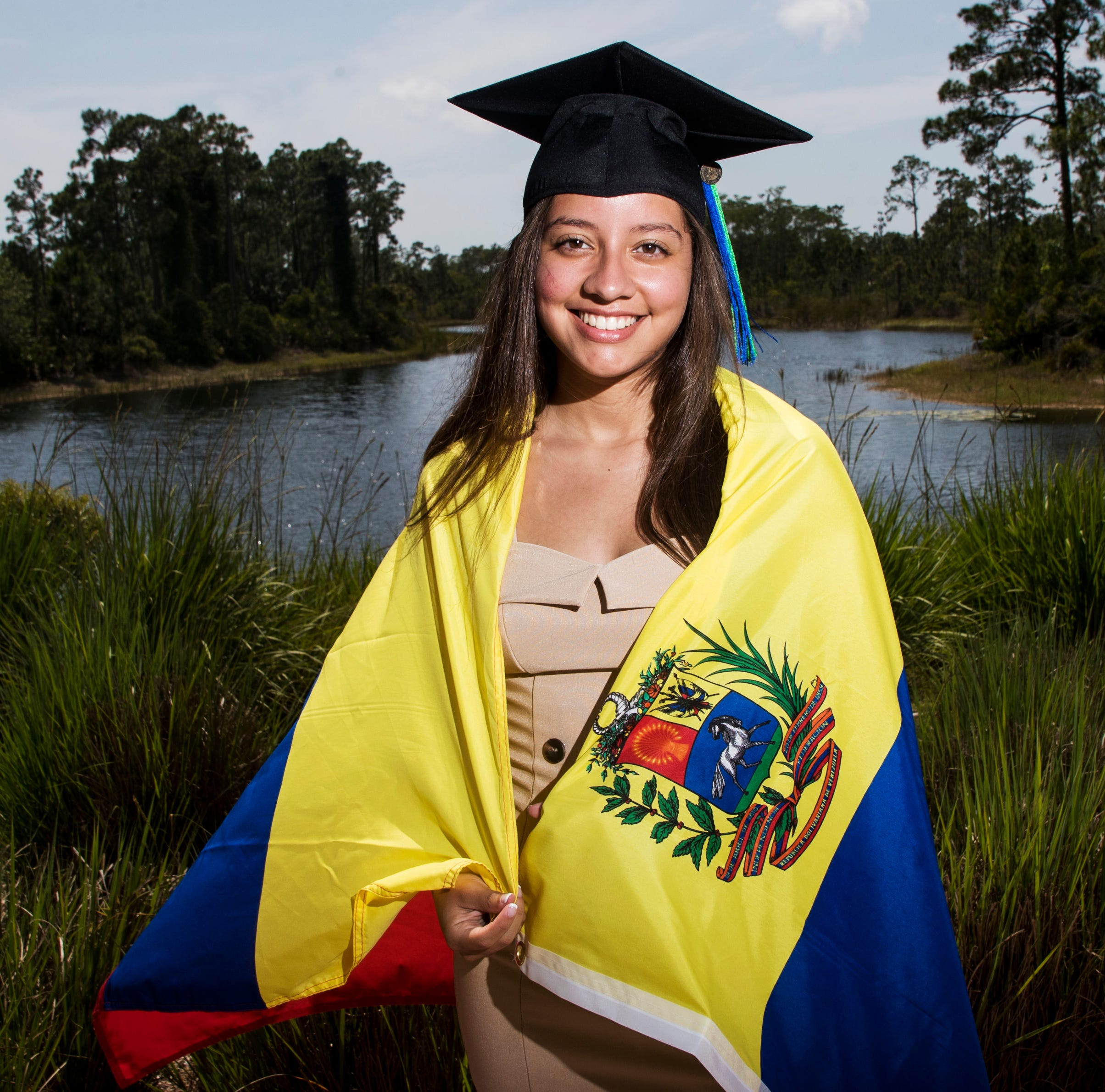 Venezuela native is one of nearly 2,000 Florida Gulf Coast University graduates; biggest commencement ceremony in school's history