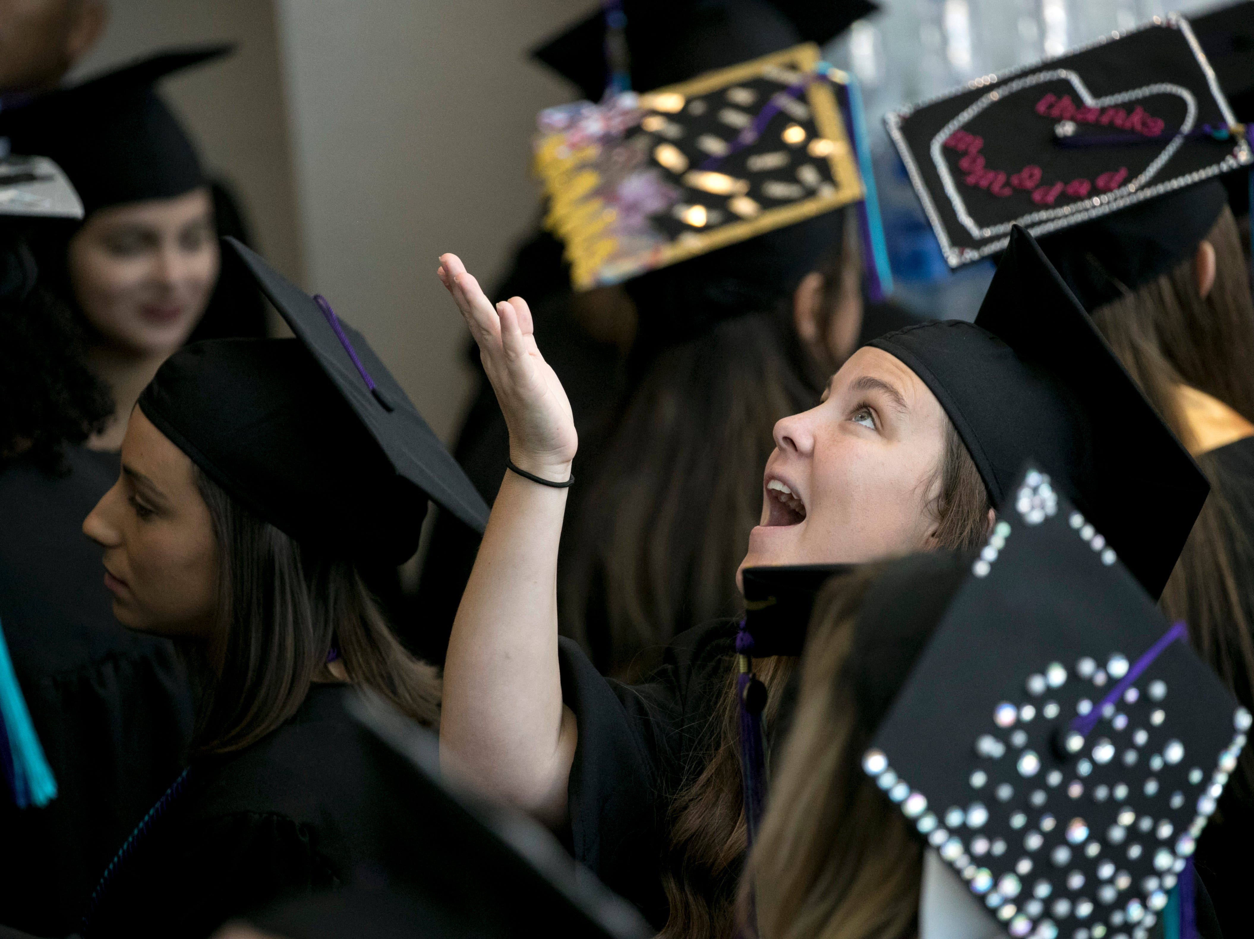 Caitlin McGlynn her graduation from Florida Southwestern State College on Friday, May 3, 2019, in Fort Myers.