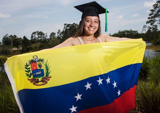 Fabiana Solano graduated from Florida Gulf Coast University Saturday after just three years of school. She moved from Venezuela when she was seven and didn't speak a word of English. She'll graduate from the Honor's College with a 3.8 GPA. She is part of the marketing team at the university and has a life size cutout at the welcome center that promotes the university.
