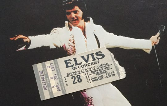 Tina Williquette of Green Bay cherishes the memory of seeing Elvis Presley with her mom in 1977.
