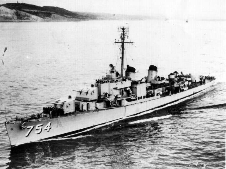 The USS Frank E. Evans