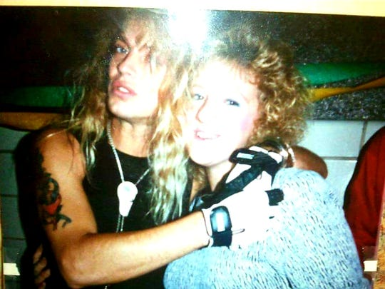 Laura Benesh was 16 when she met Poison singer Bret Michaels at the arena in the '80s. She got a photo with him again on April 6, 2019, when he played the final concert at the building.