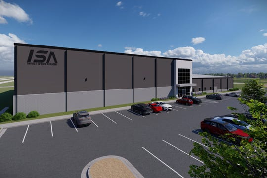 An exterior drawing of what the new Impact Sports Academy will look like.