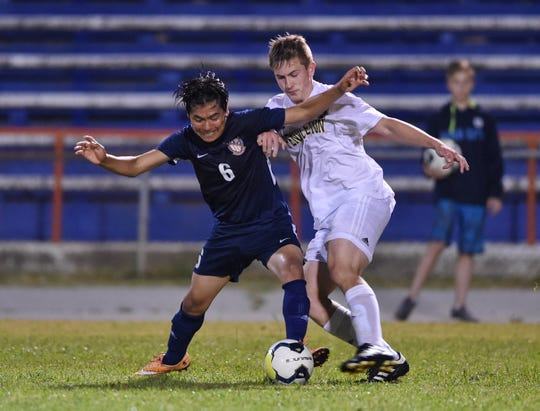Carolina hosted Pendleton in a Class AAA boys soccer playoff game Thursday. Pendleton advanced past Carolina on penalty kicks.
