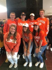Students going to Clemson from Hunterdon Central Regional High School in New Jersey. Top row (L-R): Ryan McCloskey, Carter Varin, Anthony Dempsey, Jason Timberlake, bottom row: Catherine Turtola, Sophia Marra, Natalie Smith