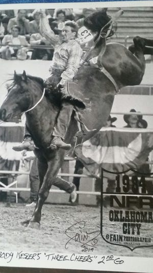 Larry Peabody of Bozeman won the PRCA world championship in bareback riding in 1984.