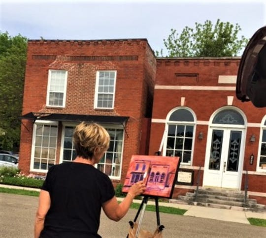 The charm of the Olde Concord Gallery on Lake Ridge Road was captured by artist Pam Folsom.  The two buildings were erected in the early 1900's and combined after gallery owner Janice Valentine purchased both in 1999.