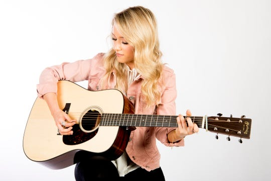 """Knoxville """"Voice"""" runner up Emily Ann Roberts performs in the News Sentinel studio in Knoxville, Tennessee on Friday, May 3, 2019."""