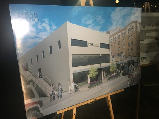 A rendering reimagines what the former Karma nighclub property in downtown Lafayette may look like after it is remodeled to house Opportunity Machine. The Lafayette Economic Development Authority acquired the $1 million property as part of its continued efforts to revitalize the downtown area.