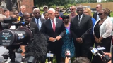 Vice President speaks with leaders from Louisiana and Opelousas at Mt. Pleasant Baptist Church on May 3, 2019.