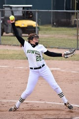 Howell's Molly Carney recorded her 500th career strikeout in a 9-5 victory over Walled Lake Northern.