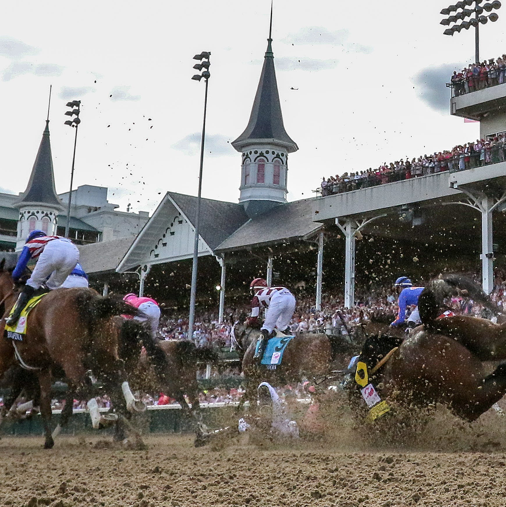 Positive Spirit falls out of the gate at the start of Kentucky Oaks