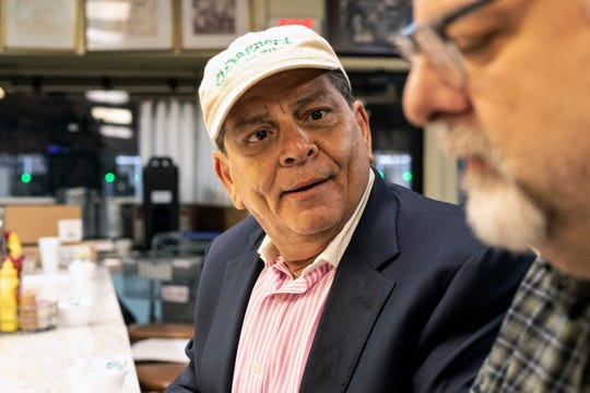 Joe Fuentes of Atlanta has made Wagner's Pharmacy a regular stop over his thirteen years attending the Kentucky Derby. May 3, 2019