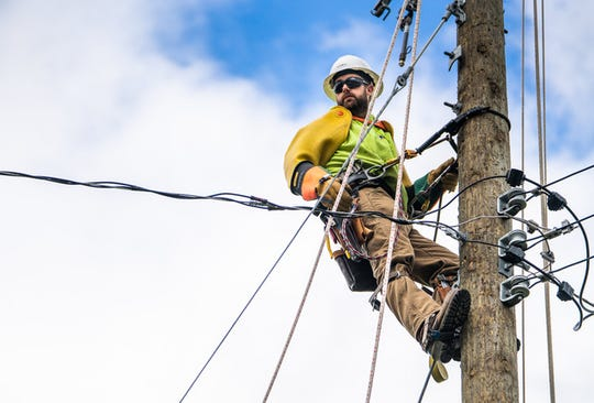 Electrical lineworker is one of the many Professional Trades careers that will have a surplus of job openings in Michigan in the coming years.