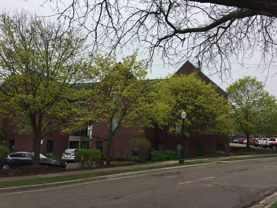 An East Lansing Downtown Development Authority-owned property along Evergreen Avenue. The property could be part of a future development.