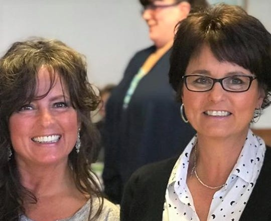 Terri Pries and Lisa Novak – HFM Lean on the Lakeshore small team winners.  Sisters lost their father to suicide in 2017, and their brother to a heart condition four months later joined to get out of their slump of depression.
