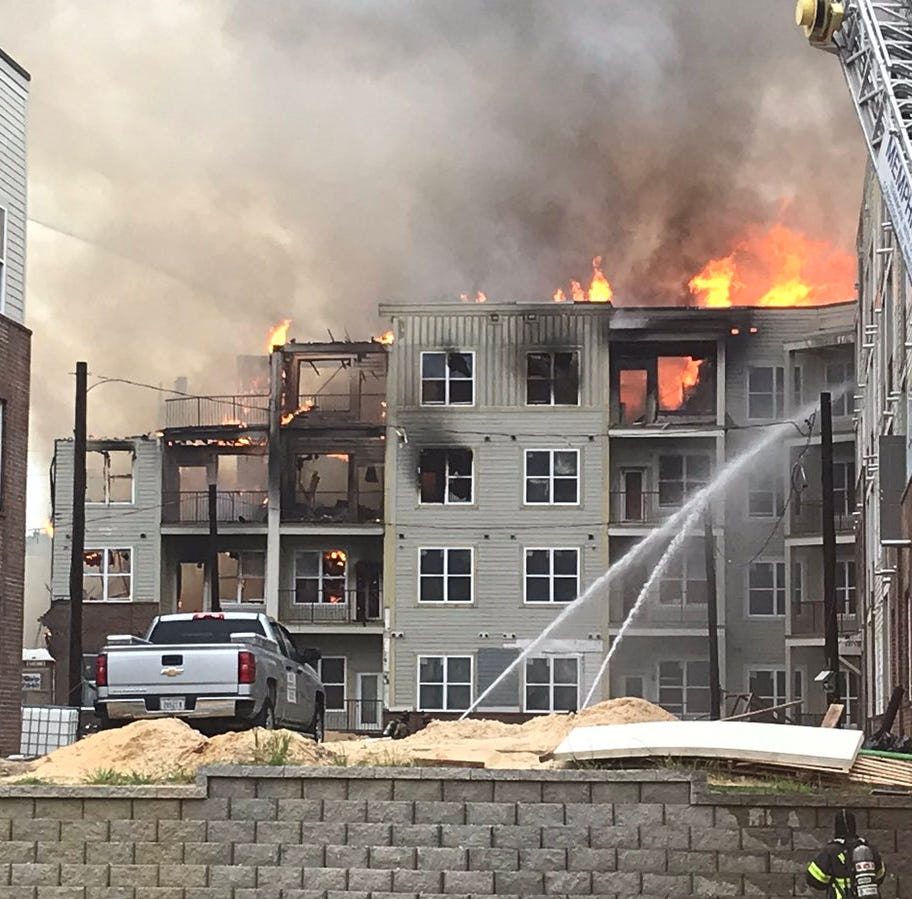 Downtown Memphis apartment blaze under control, fire officials say