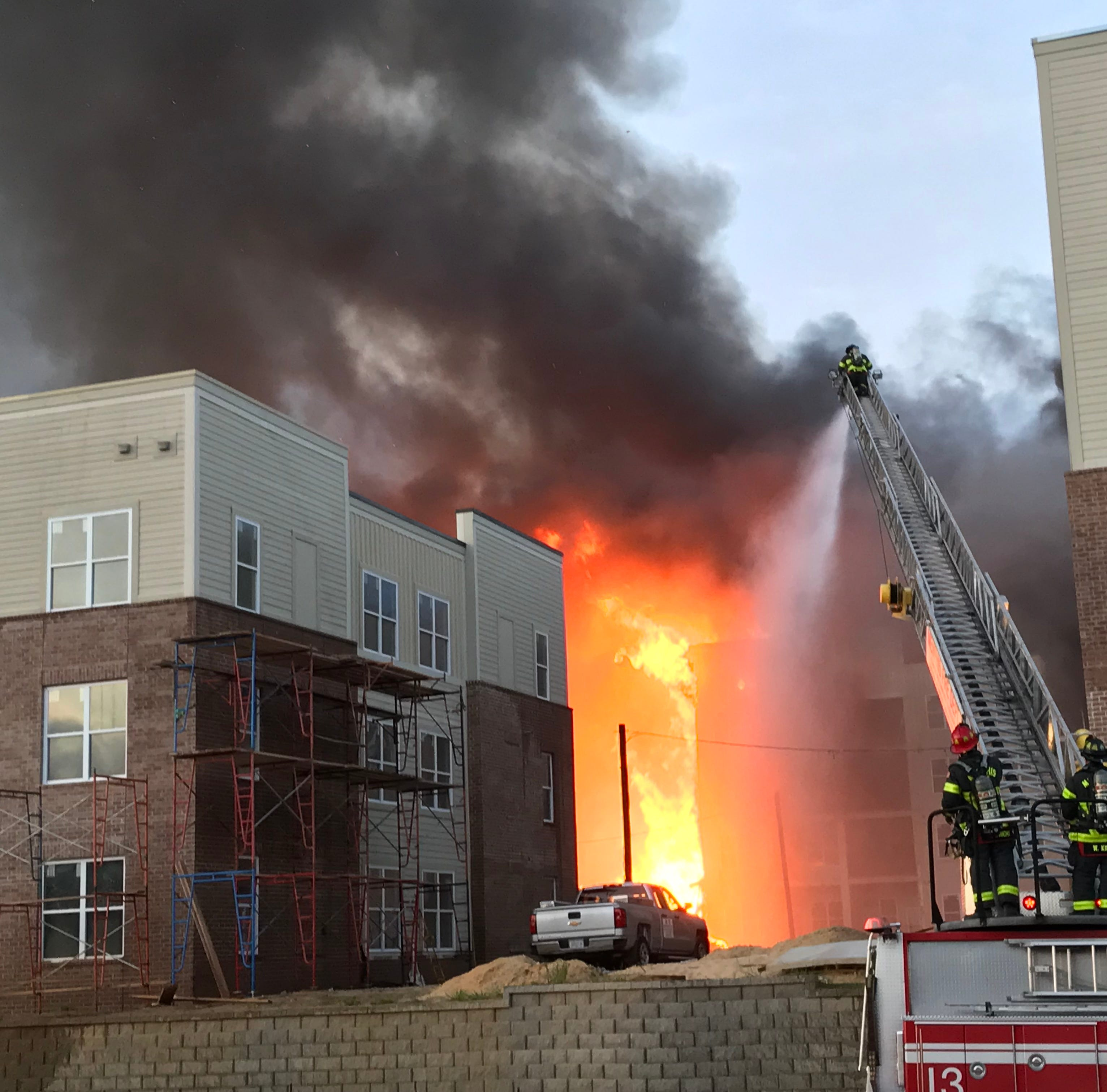 Apartment fire at site of former Foote Homes project near Downtown Memphis