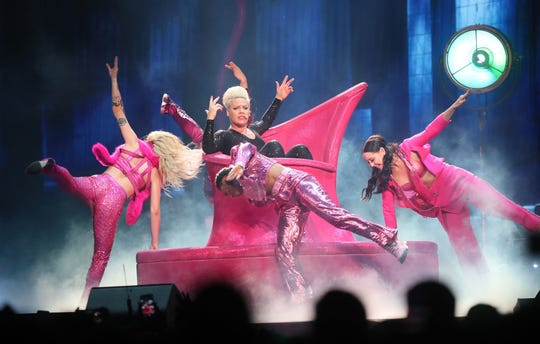 Pink performs at Fiserv Forum.