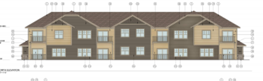 A development that would create 128 apartments in several two-story buildings is being proposed in Menomonee Falls.